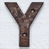 Victorian cast-iron sign letter 'Y', 10cm