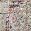 1607 engraved map of Hampshire, William Hole