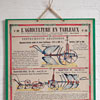 French agriculture wall chart: Farm Implements