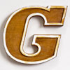 Mid-1900s wooden letter mould: 'G', 19.5cm
