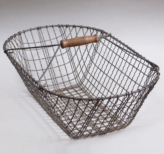 Large Antique Wire Basket