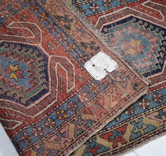 The Vintage Wall Antique Persian Quchan Hallway Runner Rug