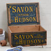 Rare French Hudson soap crate with lid, c. 1914