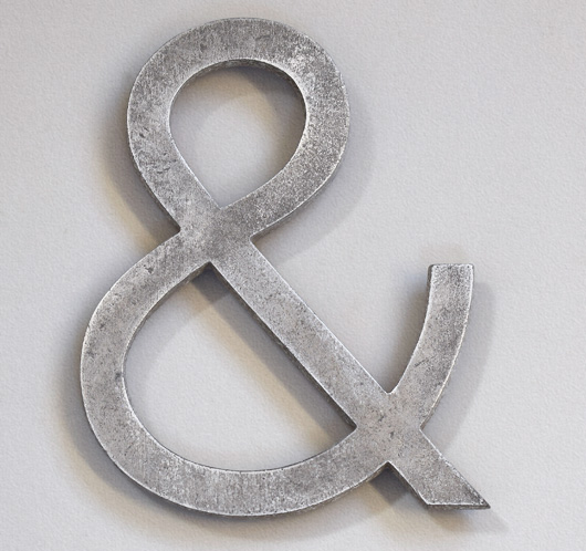 The Vintage Wall™ - Early-1900s stripped metal ampersand symbol