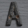 Small antique iron sign letter 'A'