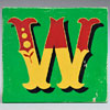 Painted wooden sign letter plaque: W