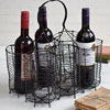 French wirework wine bottle carrier, c. 1900
