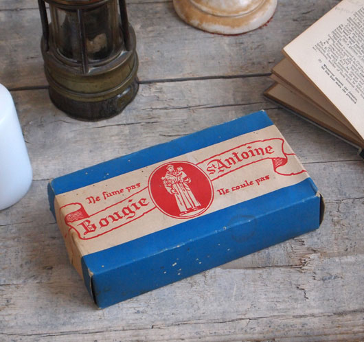 Unopened early-1900s vintage French box of candles