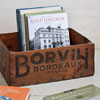 Early-1900s French wooden crate: Borvili