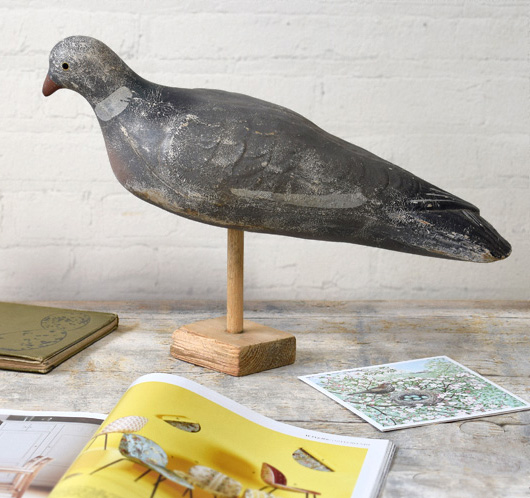 The Vintage Wall™ - Mounted antique decoy wood pigeon