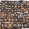 Large batch of brass letter stencils, c. 1910