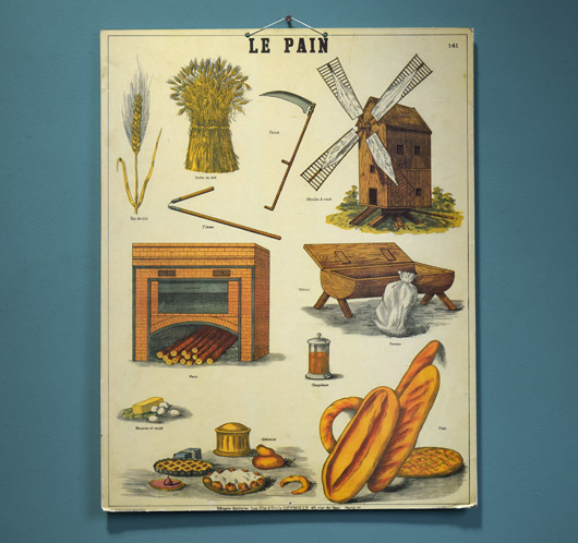 1950s vintage French wall hanging: Le Pain