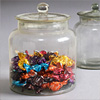 Early-1900s glass sweets jar with lid, large