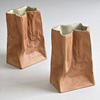 1970s Rosenthal ceramic paper bag vase, small