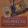Player's Cigarettes wooden advertising panel
