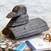 French folk art wooden duck sculpture