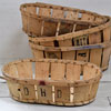 Rustic French bentwood fruit basket