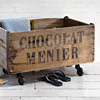 Extra-large crate on castors: Chocolat Menier