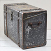 Early-1900s wood, iron and brass chest