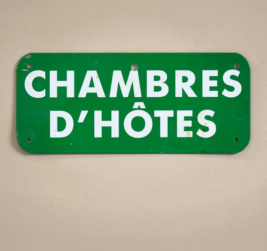 Vintage French metal B&B sign: Chambres d'Hôtes