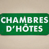 French metal B&B sign: Chambres d'Hôtes
