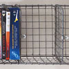 Wall-mountable wire pigeon hole shelving, 100cm