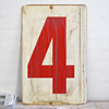 Large double-sided metal number sign: 4/5