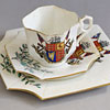 Victorian cup and saucer trio: Rule Britannia