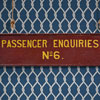 Early-1900s railway sign: Passenger Enquiries