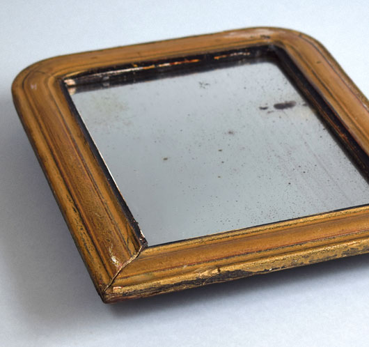 The Vintage Wall Small Antique French Gilded Wall Mirror