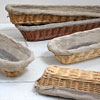 French traditional linen-lined bread basket