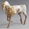 Mixed media cantering horse sculpture