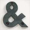 Victorian cast-iron ampersand symbol, green
