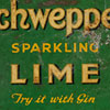Early-1900s metal serving tray, Schweppes
