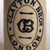 c.1900 stoneware ginger beer bottle: Clayton Bros