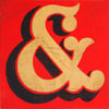 Hand-painted wooden fairground ampersand '&' sign
