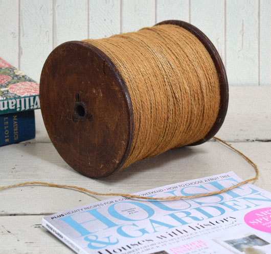 Large antique store wrapping-counter twine reel, c. 1920s