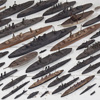 Large collection of scratch-built wooden ships
