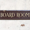 1940s enamel door sign: Board Room