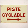 1930s French enamel cycling sign