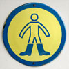Enamel safety sign: Boots Must Be Worn