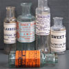 Set of 5 Victorian chemist's bottles with labels (2 of 2)