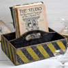 Early-1900s painted wooden storage carry box