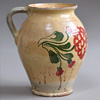 Early-1900s floral pottery jug