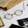 Victorian wire-rimmed spectacles