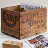 Early-1900s wooden packing crate: Camp Coffee