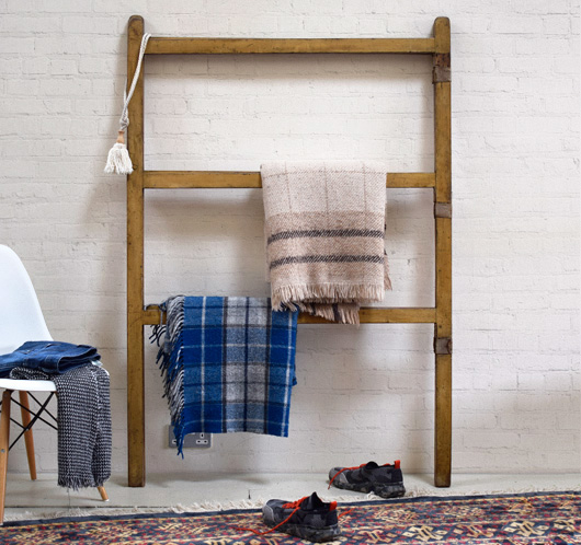 Large hinged antique pine carpet airer