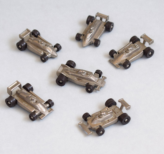 Group of vintage miniature die-cast racing cars