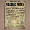 1940s tin sign: Treatment Of Electric Shock