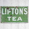 Early-1900s enamel Lipton's Tea sign